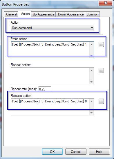 FactoryTalk Button Run Command Setup