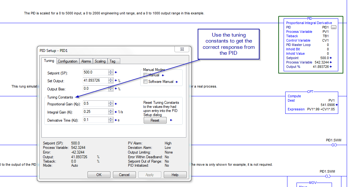 PID Tuning Constants