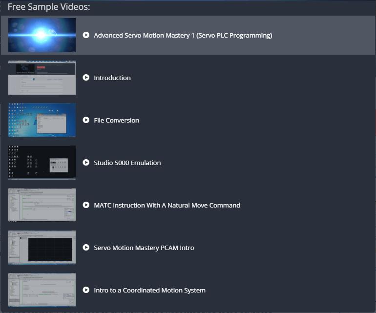 Udemy Advanced Servo Motion Mastery Samples