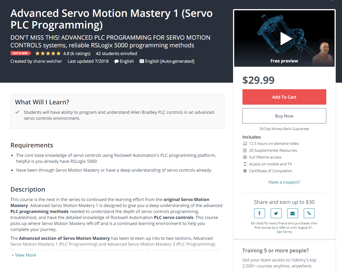 Advanced Servo Motion Mastery Course