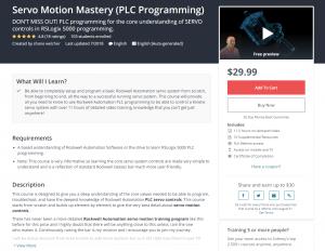 Shane Welcher Servo Motion Mastery Course