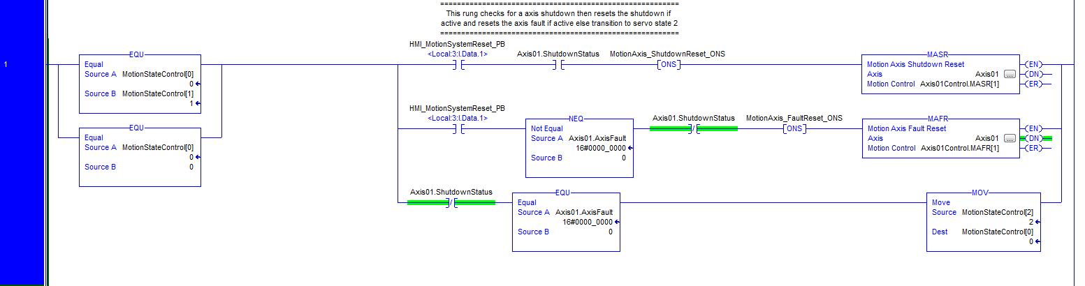 RSLogix 5000 Servo Axis MAFR Instruction