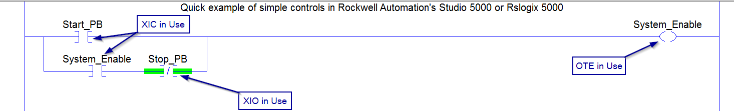 RSlogix 5000 Instructions In Use