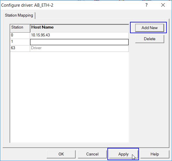 RSlinx Classic Ethernet Driver Adding IP Address
