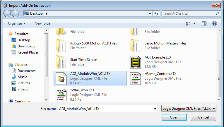 Select The Add-On Instruction In It's Folder