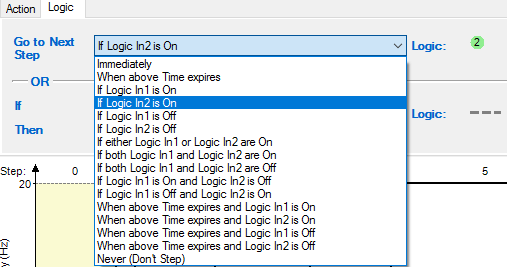 Step Logic Options