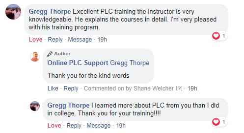 Online PLC Support Testimonials