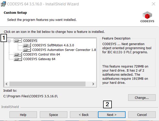 CodeSys Install Custom Checklist