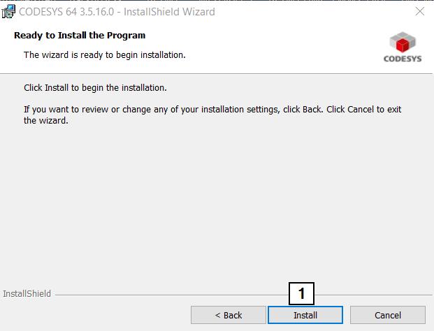 CodeSys Install Custom Start Install