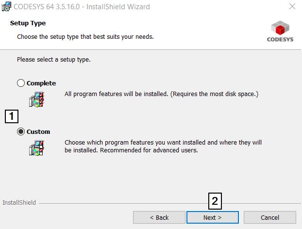 CodeSys Install Custom