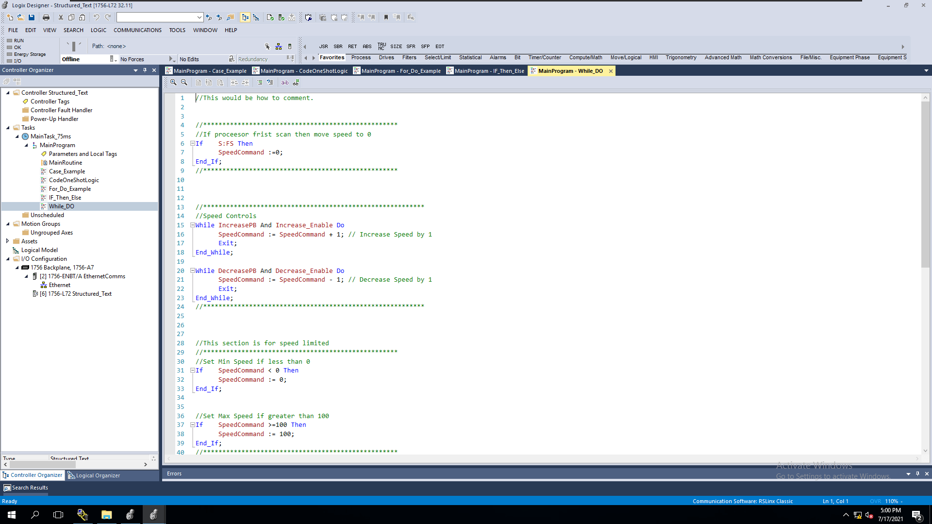 Structure Text Example